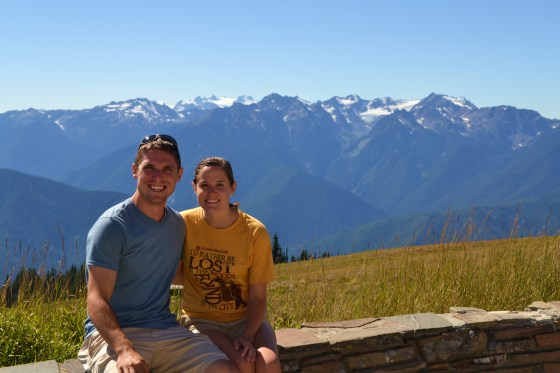 The view from Hurricane Ridge in Olympic National Park.
